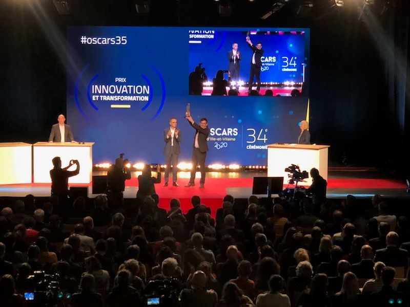 """ARIADNEXT wins the """"Innovation and Transformation"""" Oscar at the Oscars of Ille-et-Vilaine 1"""